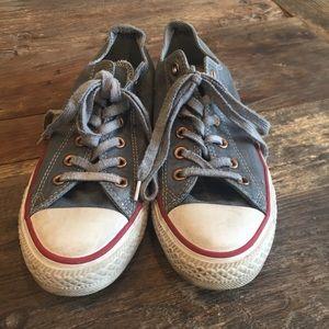 Dark grey converse